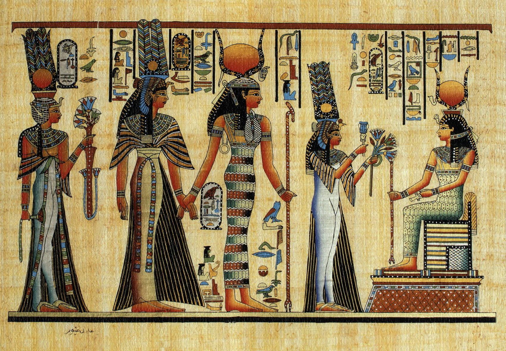 Как рисуют на папирусах