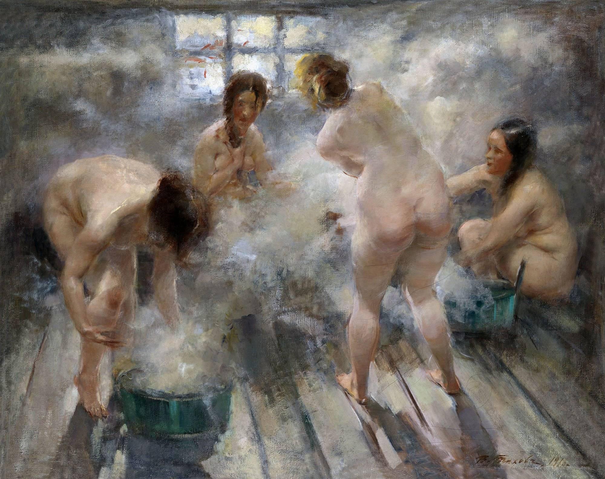 Фото деревенских женщин моющихся в бане 28 фотография