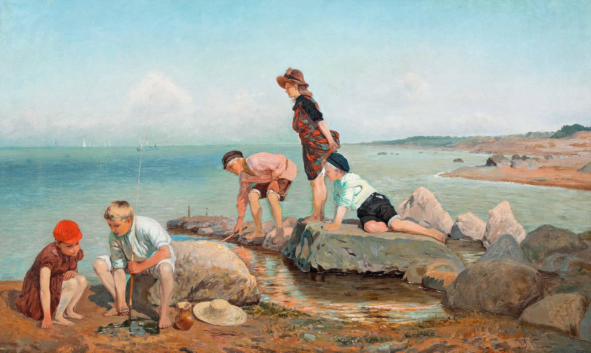 рыбная ловля художник