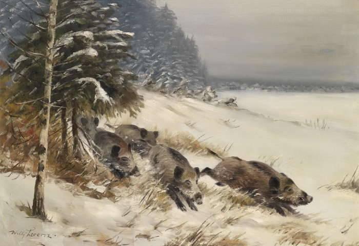 кабан� зимой �о�о Фо�оа��ив