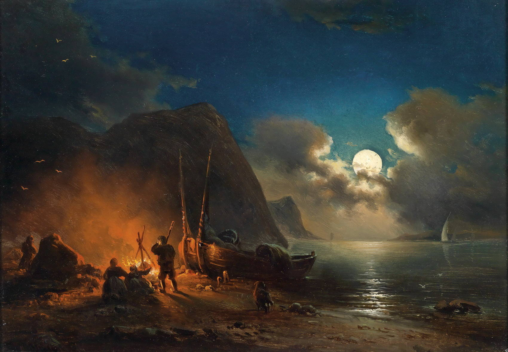 антонов бьется лодка о берег