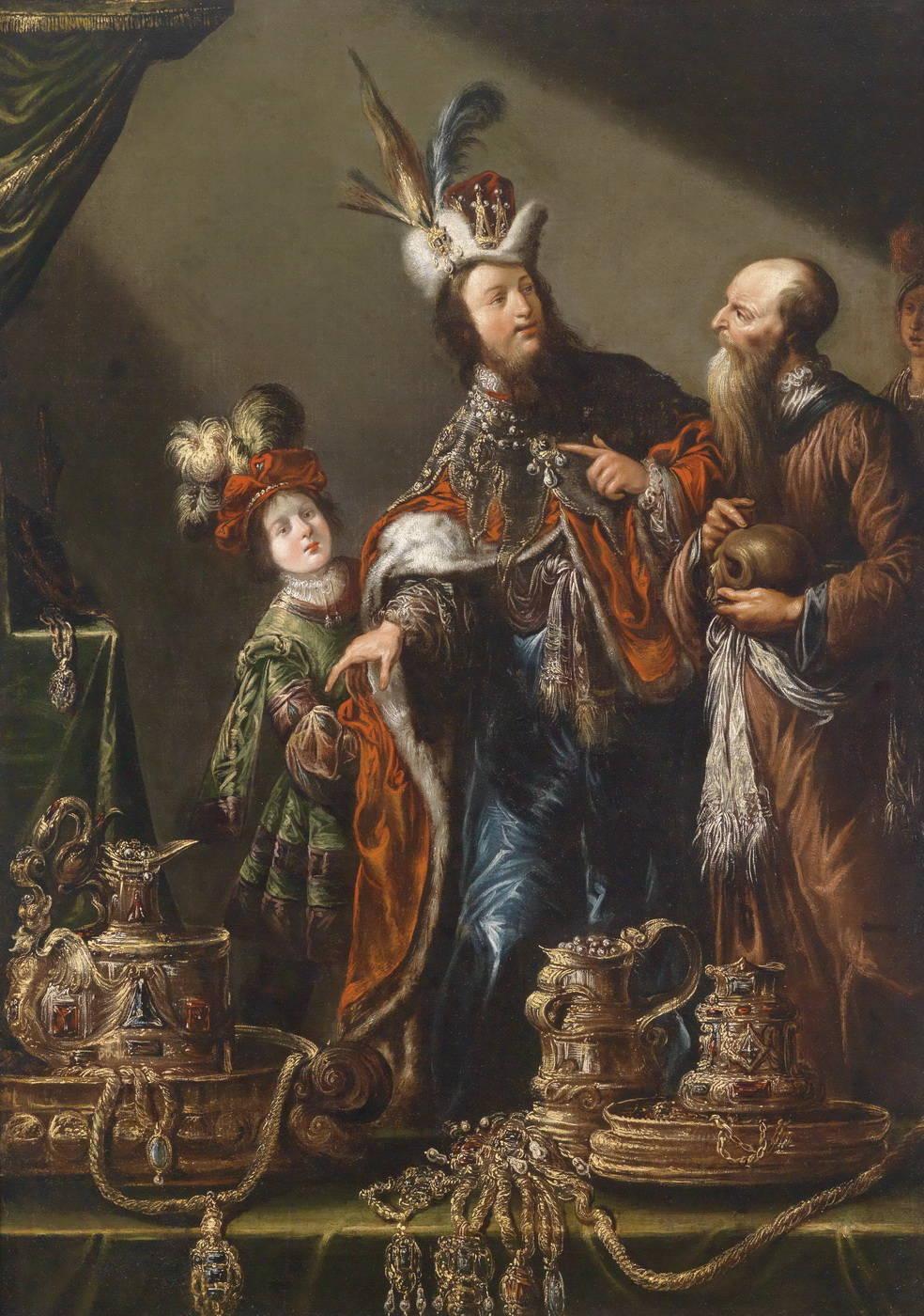 Крез показывает Солону его богатство