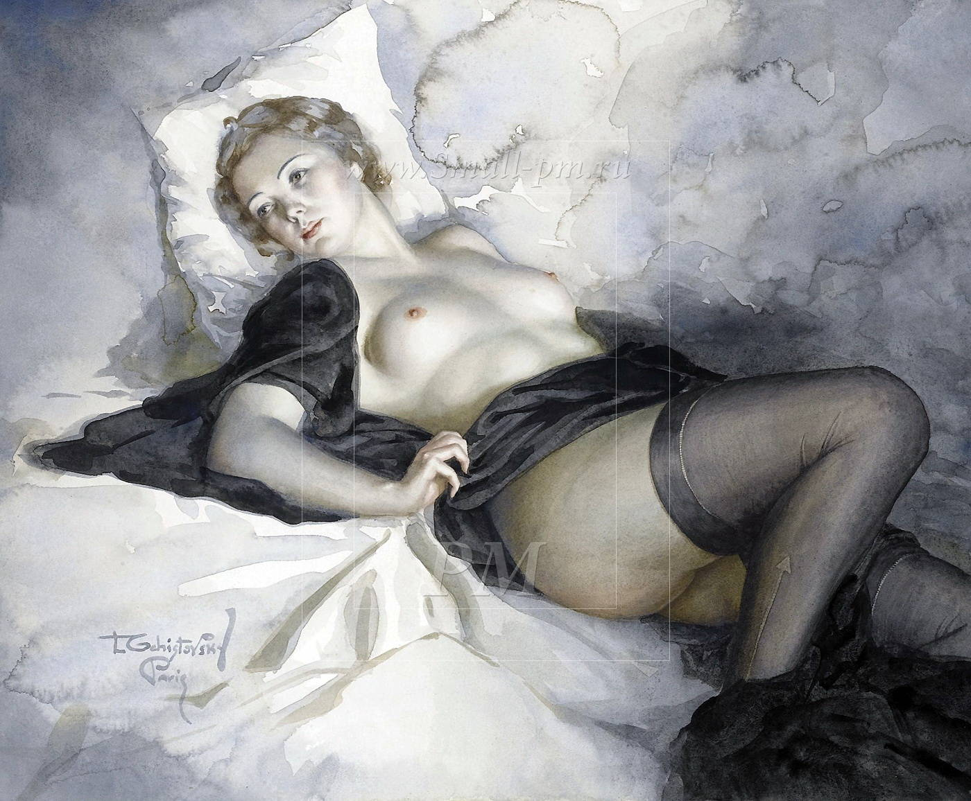 Бесплатное порно видео онлайн Белье и чулки прекрасная девушка в