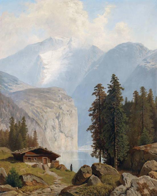 Горное озеро / Вильгельм Теодор Нокен - Wilhelm Theodor Nocken