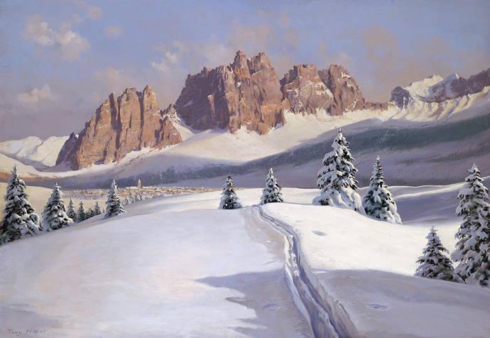 Зима в Доломите / Тони Халер - Toni Haller