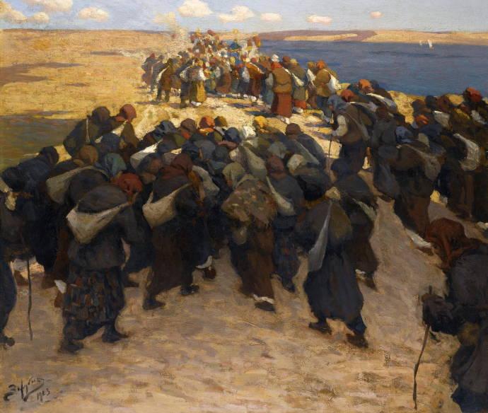 Толпа паломников / Зарубин Виктор Иванович - Zarubin Viktor Ivanovich