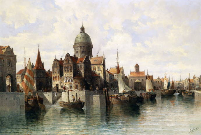 Вид на Амстердам / Август фон Сиген - August von Siegen