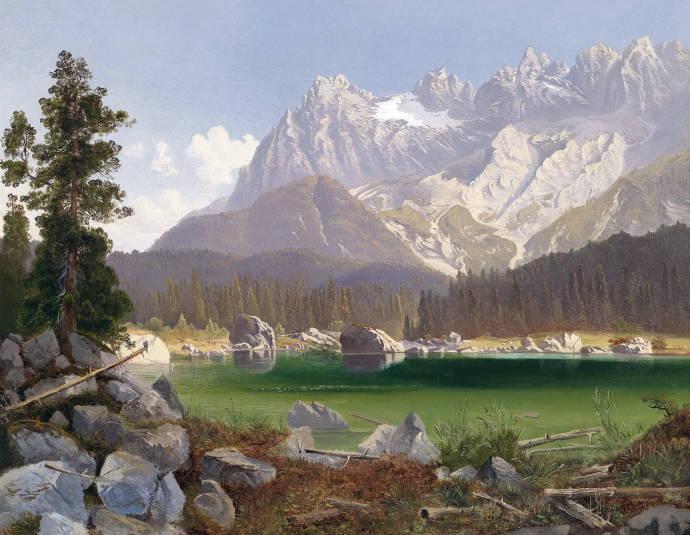 Горное озеро / Максимильян Йозеф Хаусхофер - Maximilian Joseph Haushofer