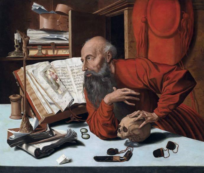 Святой Жером в своём учении / Маринус ван Реймерсвэйл - Marinus van Reimerswale