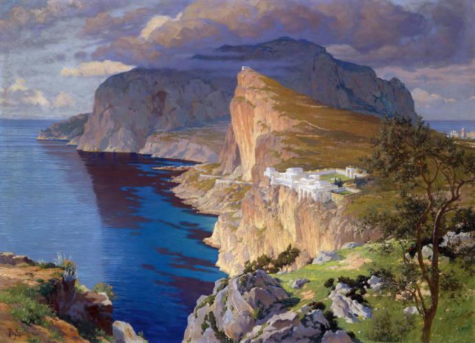 Вилла 'Йовис' на острове Капри / Поль фон Спаун - Paul von Spaun