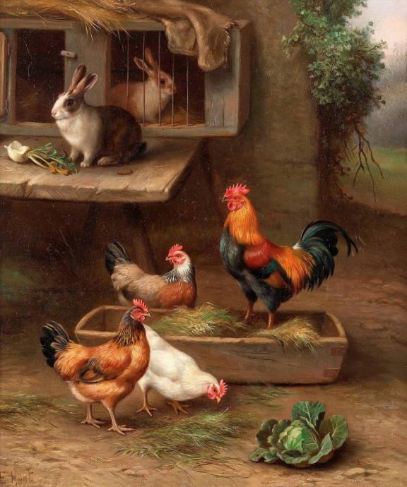 Курицы и кролики / Эдгар Хант - Edgar Hunt