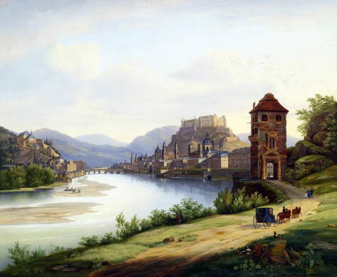 Вид Зальцбурга. 1833 г. / Якоб Родлер - Jakob Roedler