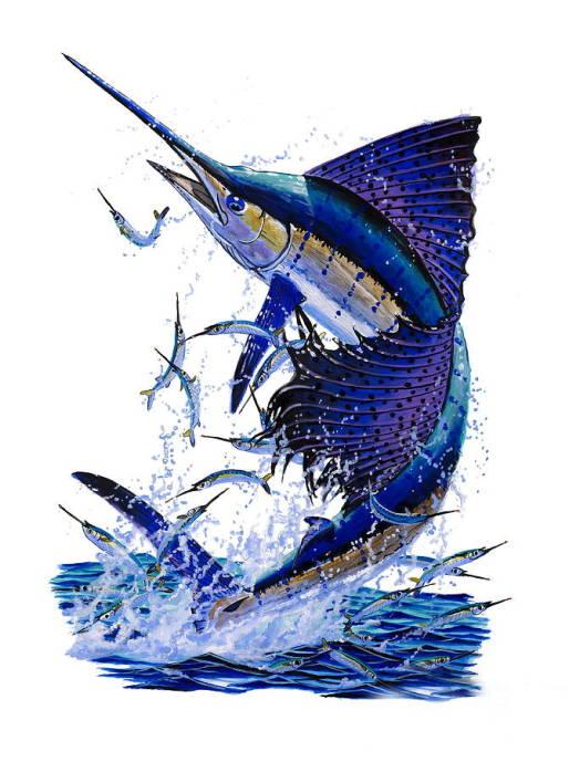 чего как нарисовать рыбу парусник термобелье