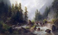 Мост в горах альберт ригер albert rieger