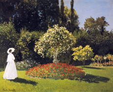Дама в саду. 1867 г. / Клод Оскар Моне - Claude Oscar Monet
